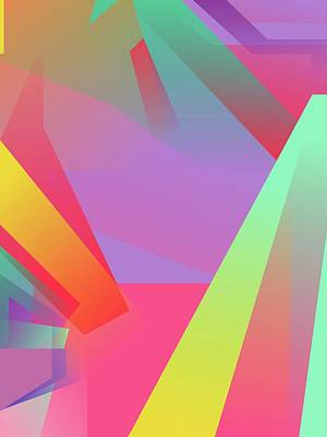 Royalty-Free and Rights-Managed Images - Abstract Colorful Gradient Pop Art 141 by Ahmad Nusyirwan