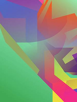 Royalty-Free and Rights-Managed Images - Abstract Colorful Gradient Pop Art 142 by Ahmad Nusyirwan