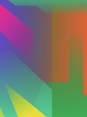 Royalty-Free and Rights-Managed Images - Abstract Colorful Gradient Pop Art 143 by Ahmad Nusyirwan