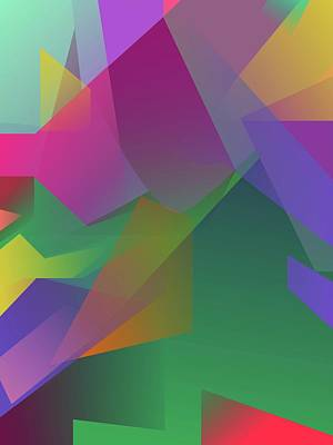 Royalty-Free and Rights-Managed Images - Abstract Colorful Gradient Pop Art 145 by Ahmad Nusyirwan