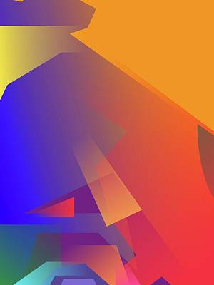 Royalty-Free and Rights-Managed Images - Abstract Colorful Gradient Pop Art 185 by Ahmad Nusyirwan