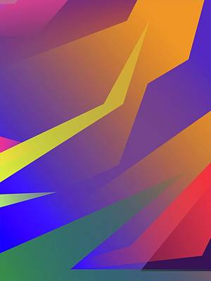 Royalty-Free and Rights-Managed Images - Abstract Colorful Gradient Pop Art 187 by Ahmad Nusyirwan