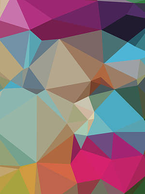 Royalty-Free and Rights-Managed Images - Abstract Colorful Polygon 4 by Ahmad Nusyirwan