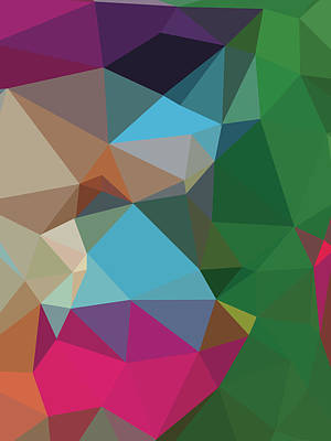 Royalty-Free and Rights-Managed Images - Abstract Colorful Polygon 5 by Ahmad Nusyirwan