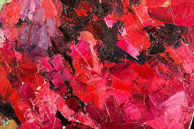 Royalty-Free and Rights-Managed Images - Abstract dark red oil painting on canvas.  by Julien