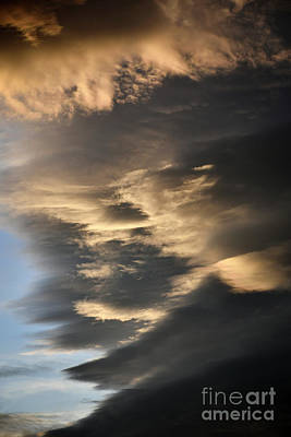 Up Up And Away - Abstract detail of clouds in the sky by Jozef Jankola