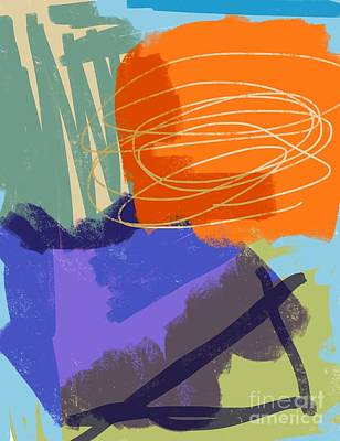 Mixed Media Royalty Free Images - Abstract expressionism orange speaks Royalty-Free Image by Sarah Niebank