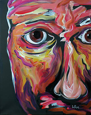 Painting - Abstract Face 19 by Doug LaRue