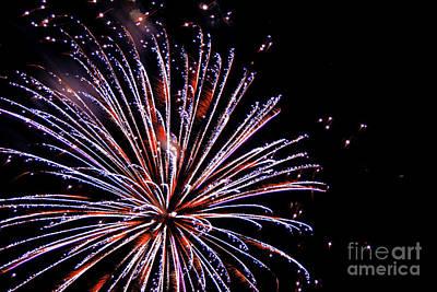 Photograph - Abstract fireworks by Dawid Swierczek