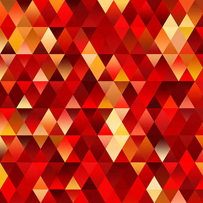 Digital Art - Abstract Geometric Fire by Ruth Moratz