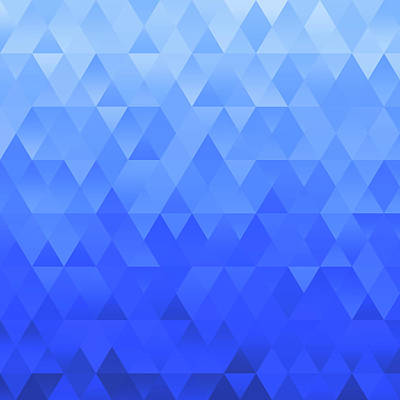 Digital Art - Abstract Geometric Ocean by Ruth Moratz