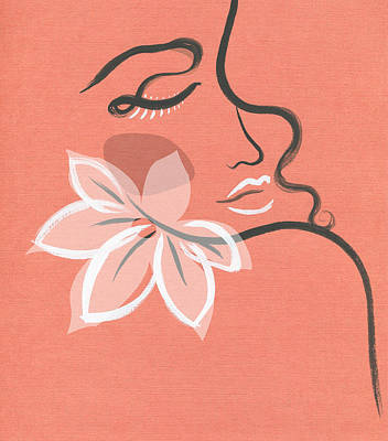 Royalty-Free and Rights-Managed Images - Abstract Girl With Flower. Beauty Fashion Illustration by Julien
