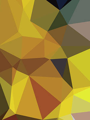 Royalty-Free and Rights-Managed Images - Abstract gold Polygon 36 by Ahmad Nusyirwan