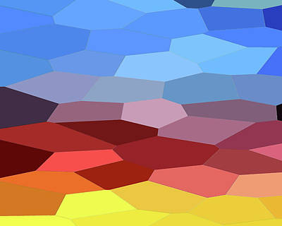 Royalty-Free and Rights-Managed Images - Abstract Mosaic Landscape  by Irina Sztukowski