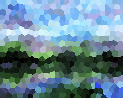 Royalty-Free and Rights-Managed Images - Abstract Mosaic Soothing Landscape II by Irina Sztukowski