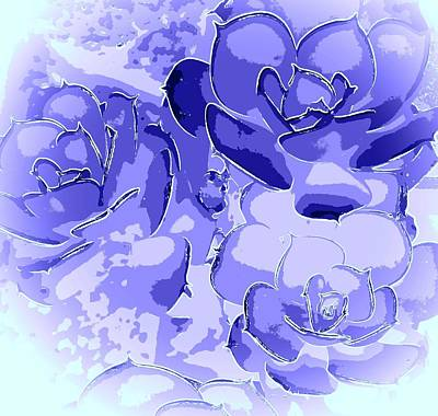 World War 2 Action Photography - Abstract Periwinkle Roses by Loraine Yaffe