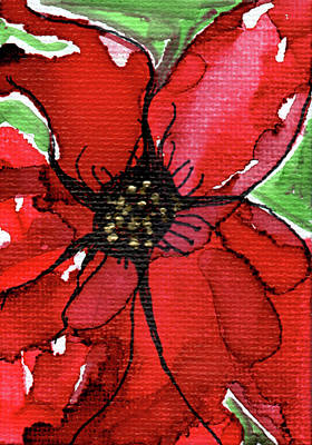 Painting - Abstract Poinsettia by Mary Benke