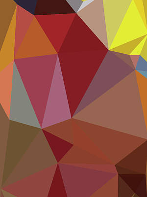 Royalty-Free and Rights-Managed Images - Abstract red Polygon 49 by Ahmad Nusyirwan