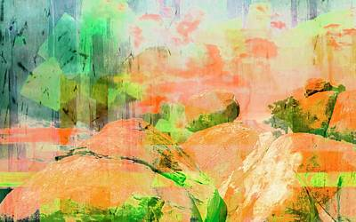 Mixed Media - Abstract Rocks by Bob Pardue