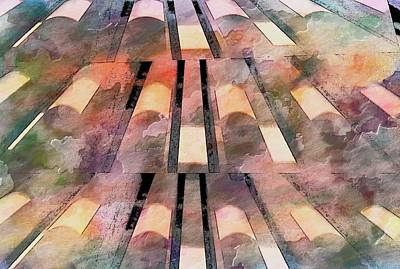 Mixed Media - Abstract Steps by Bob Pardue