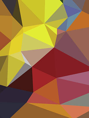 Royalty-Free and Rights-Managed Images - Abstract yellow Polygon 44 by Ahmad Nusyirwan