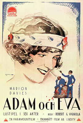 Royalty-Free and Rights-Managed Images - Adam and Eva with Marion Davies - 1923 by Stars on Art