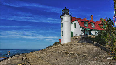 Royalty-Free and Rights-Managed Images - Admiring Point Betsie Lighthouse by Christopher Thomas
