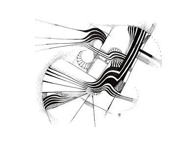 Animals Drawings - Admissarius by Alex Ruiz