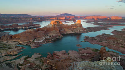 Photograph - Aerial View of Alstrom Point, Page Arizona by Keith Kapple