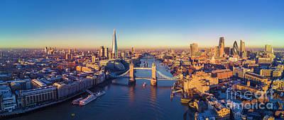 Photograph - London and the Tower Bridge by Heyengel