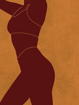 Royalty-Free and Rights-Managed Images - Aesthetique - Female Figure - Minimal Contemporary Abstract 03 by Studio Grafiikka