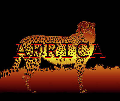 The Bunsen Burner - Africa and Cheetah by David Lee Thompson