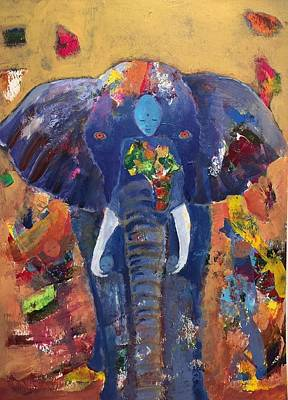 Painting - African Courage Elephant Spirit by Jessel Miller