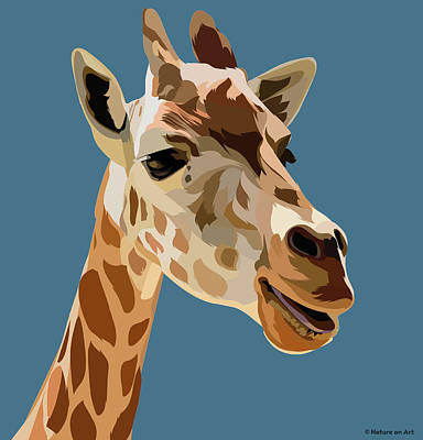Royalty-Free and Rights-Managed Images - African giraffe by Stars on Art