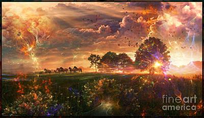 Digital Art - After Earth-III- Digital Artwork  by Leonard Rubins