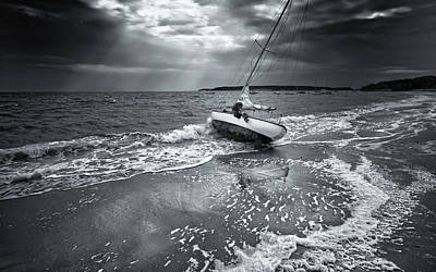 Photograph - After Storm - Black and White Photography Print by Dapixara Art