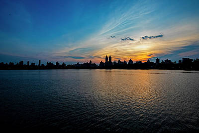 Truck Art Rights Managed Images - After Sunset - Central Park Reservoir Royalty-Free Image by Robert Ullmann