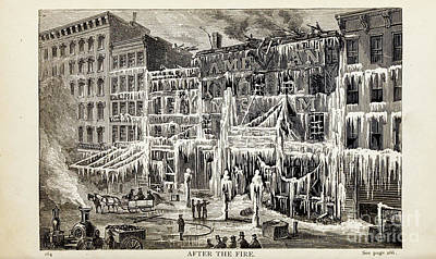 Drawings Royalty Free Images - AFTER THE FIRE, i Royalty-Free Image by Historic illustrations