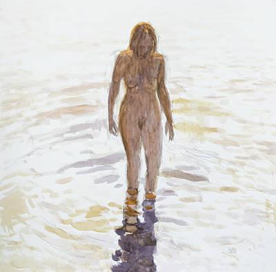 Painting - Afternoon Bath by Hans Egil Saele