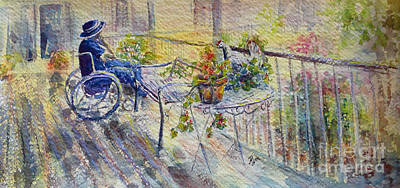 Painting - Aged Care Home Veranda by Ryn Shell