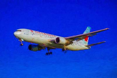 Royalty-Free and Rights-Managed Images - Air Canada Boeing 767-375 Art by David Pyatt