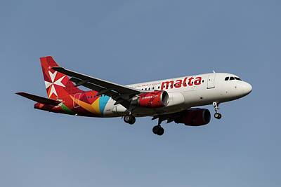 Keith Richards - Air Malta Airbus A319 by David Pyatt