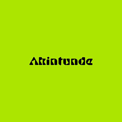 Royalty-Free and Rights-Managed Images - Akintunde by TintoDesigns