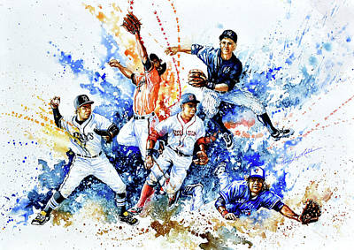 Sports Royalty-Free and Rights-Managed Images - AL Fielders In The Zone by Hanne Lore Koehler