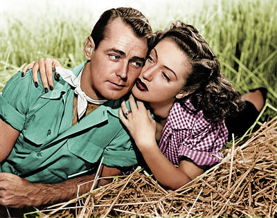 Royalty-Free and Rights-Managed Images - Alan Ladd and Dorothy Lamour by Stars on Art