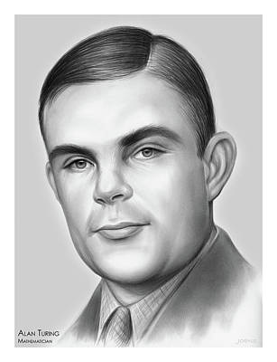 Royalty-Free and Rights-Managed Images - Alan Turing by Greg Joens