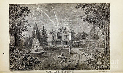 Drawings Royalty Free Images - ALARM AT LINDENCROFT, i Royalty-Free Image by Historic illustrations