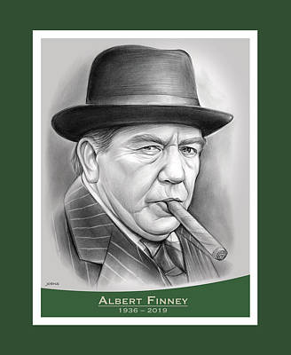 Drawings Royalty Free Images - Albert Finney - pencil Royalty-Free Image by Greg Joens