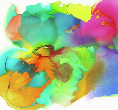 Superhero Ice Pop - Alcohol Ink Modern Color Fields by Sarah Niebank