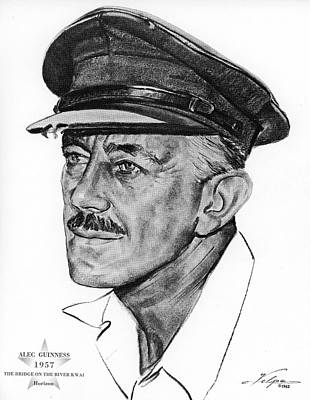 Drawings Royalty Free Images - Alec Guinness 1957 Royalty-Free Image by Stars on Art